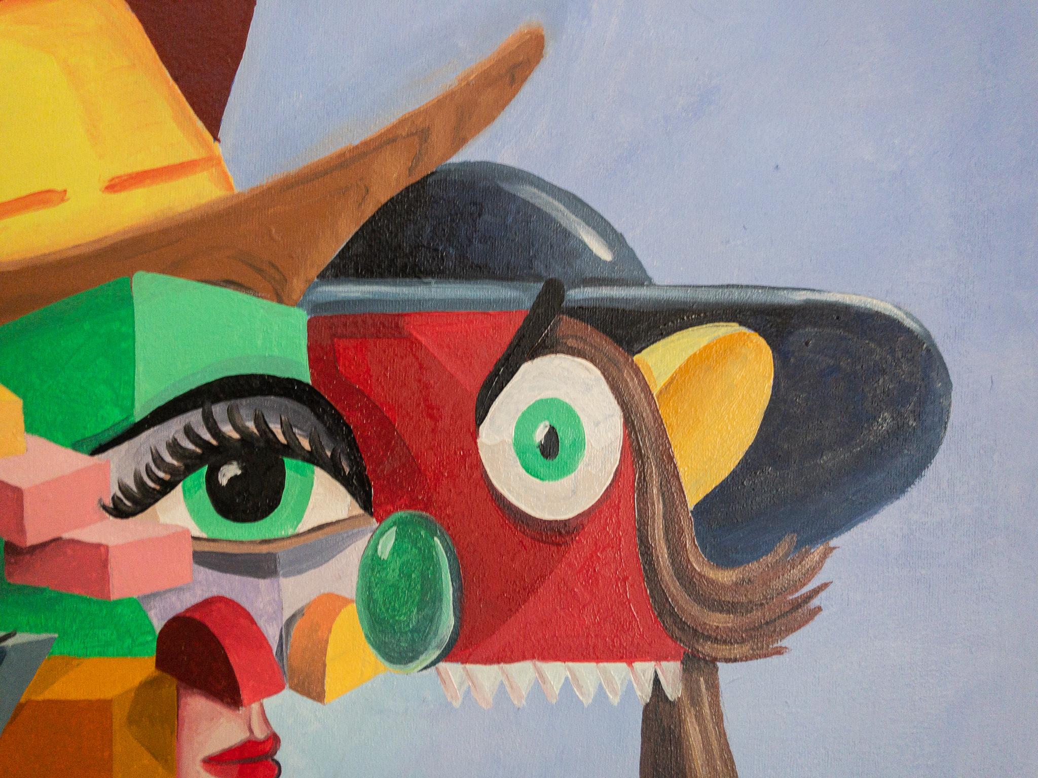 Figuren mit Hut Detail 01