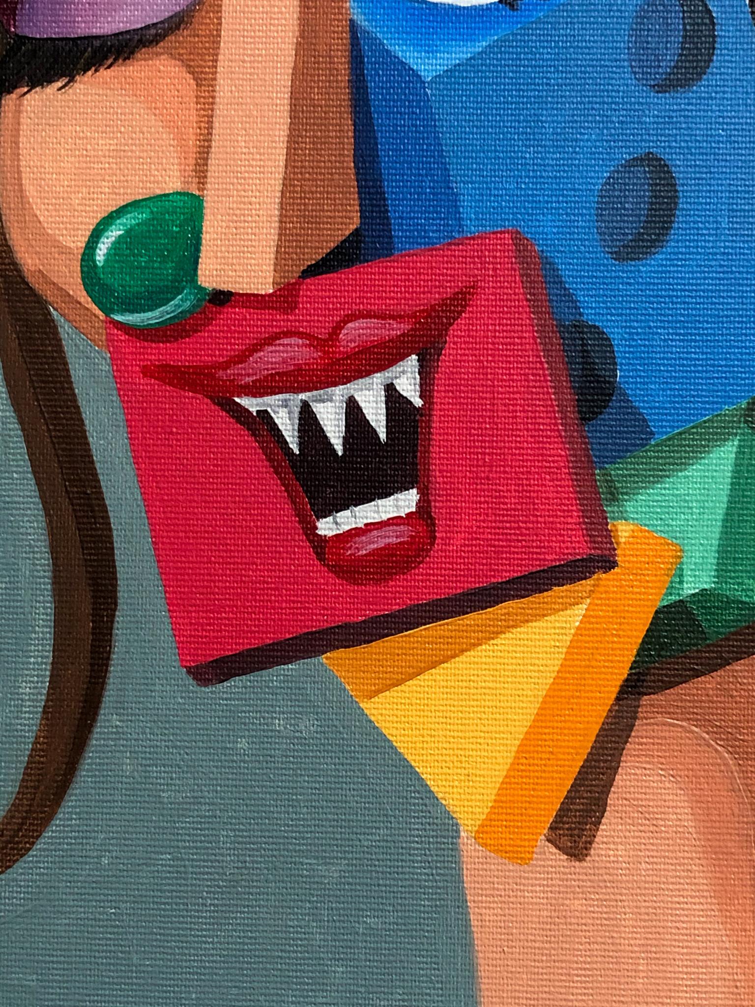 Frau mit Karotte Detail 01