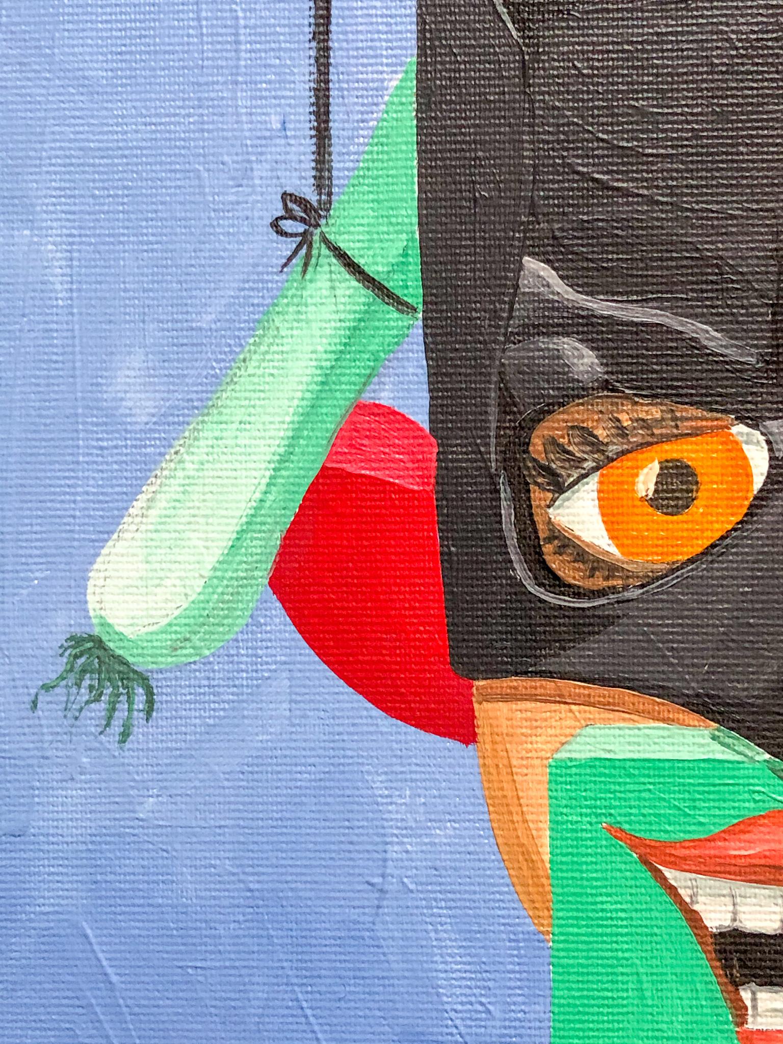 Batfrau und Lauch Detail 03
